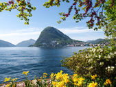 View of the Gulf of Lugano — ストック写真