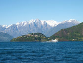 Panorama of the Hydrofoil and the background Piona on the Lake of Como — Стоковое фото