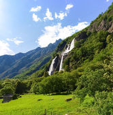 Waterfalls of Borgonuovo — Stock Photo