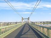 Road bridge over river Loire — Stock Photo