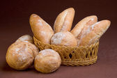 French bread with flour on top — Стоковое фото