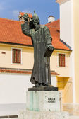 Varaždin. Sculpture croatian bishop Gregorius of Nin — Stock Photo