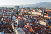 Split. View from bell tower to old town — Stock Photo