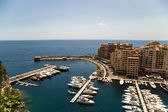 Monaco. Fontvieille and its harbour — Stock Photo