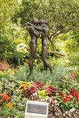 Bronze statue in the St Martin Gardens — Stock Photo
