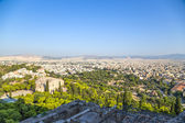 Athens. View of city and Areopagus rock from Acropolis — Zdjęcie stockowe