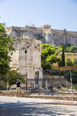 Athens. Acropolis and The Tower of the Winds — Foto de Stock