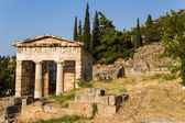 Greece, Delphi. Treasury of Athens — Stock Photo