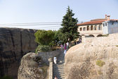 Meteora, Greece. The Holy Trinity Monastery (UNESCO list of World Heritage) — 图库照片