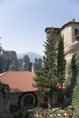 Meteora, Greece. The Holy Monastery of Rousanou (St. Barbara), (UNESCO list) — Stock Photo