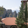 Meteora, Greece. Holy Monastery of Rousanou (St. Barbara), (UNESCO list) — Stock Photo #39980579