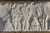 Thermopylae, Greece. Detail of the monument to the king Leonidas and 300 Spartans — Stock Photo