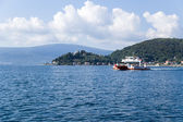 Montenegro. Ferryboat in the Bay of Kotor — Stock Photo