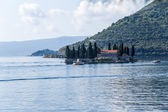 Montenegro. Island of Saint George at the Bay of Kotor — Stock Photo