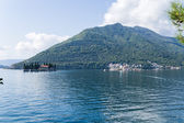 "Montenegro. Islands of St. George and ""Our lady on the reef"" in the Bay of Kotor. — Foto Stock"