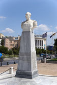Thessaloniki, Greece. A marble bust of Nikolaos Votsis (1934) — Стоковое фото