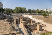 Greece. Archaeological excavations of the Roman Agora in Thessaloniki (I - IV century AD.) — Stock Photo