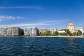 Thessaloniki, Greece. Embankment and White Tower — Stock Photo