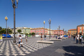 France. Place Massena in Nice — Stock Photo