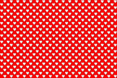 Valentine s red polka dot heart — Stock Photo
