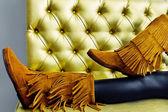Stylish women's winter boots — Stock Photo