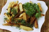 Smażone ziemniaki — Zdjęcie stockowe