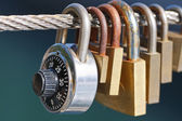 Locks on the wire — Stock Photo