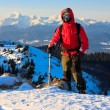 Stock Photo: Mountaineer with ice axe