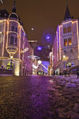 Decorated streets of Ljubljana at Christmas time — Stock Photo