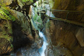 Walkway in the Pioverna gorge — Stock Photo