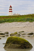 Faro en la costa atlántica — Foto de Stock