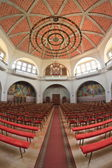 Inside the protestant church — Stock Photo