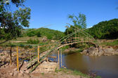 Bamboo bridge — Stock Photo