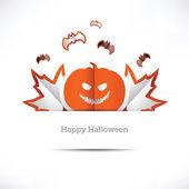 Greeting card Happy Halloween — Stock Vector