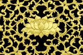 Golden Thai style pattern — 图库照片