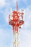 Telecommunications antennas tower — Stock Photo