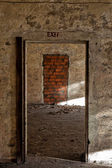 Exit walled up — Stock Photo
