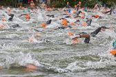 Open water swimming — Stock Photo