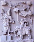 Relevo em mármore tradicional chinesa — Foto Stock
