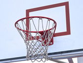 Basketball hoop and backboard — Stock Photo
