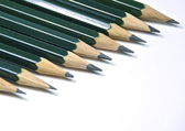 Green pencils isolated — Photo