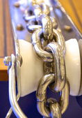 Stainless sailboat chain — Stock Photo
