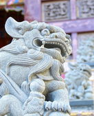 The traditional style of lion guardian — Stock Photo