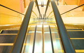 The escalator closeup — Stok fotoğraf
