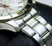 The stainless steel of chronograph watch — Stock Photo