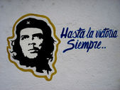 Wall painting of Ché Guevara — Foto Stock