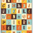 Vintage Typography Alphabet Collection — Stock Vector #39381735