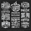 Set of Retro Vintage Coffee Labels — Stock Vector #39381875