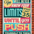 Retro Vintage Motivational Quote Poster — Stock Vector #39382039
