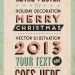 Retro Vintage Happy New Year Tin Sign — Stock Vector #39383275